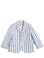 Simonetta Striped Cotton Gabardine Jacket