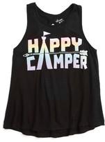 Flowers by Zoe Girl's Happy Camper Tank