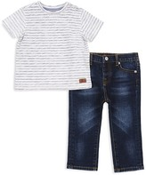 7 For All Mankind Boys' Striped Tee & Jeans Set - Baby