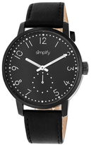 Simplify The 3400 Black Dial Watch, 42mm