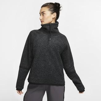 Nike Womens Long-Sleeve Fleece Training Top Therma