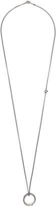 Ugo Cacciatori Silver Thin Leaves Ring Necklace