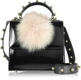 Les Petits Joueurs Mini Alex Bunny Spheres Patent Leather Satchel Bag