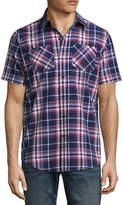 Akademiks Short Sleeve Button-Front Shirt