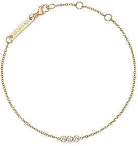 Zoë Chicco 14K Yellow Gold Bracelet with Bezel-Set Diamonds