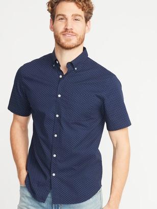 Old Navy Slim-Fit Built-In Flex Printed Everyday Shirt for Men