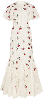 Giambattista Valli Flutter Sleeve Cherry Gown