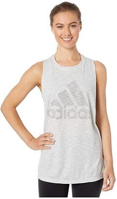 adidas Winners Tank Top (Green Tint Melange) Women's Clothing