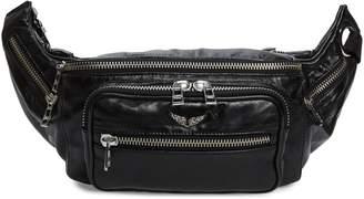 Zadig & Voltaire Banane Crush Leather Belt Bag