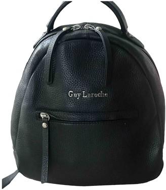 Guy Laroche Black Leather Backpacks
