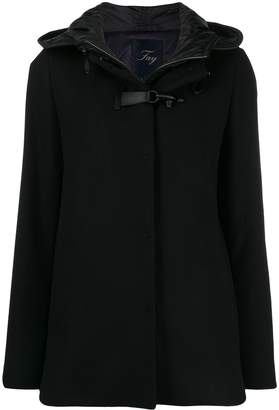 Fay layered toggle cropped parka