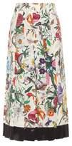 Gucci Pleated silk skirt