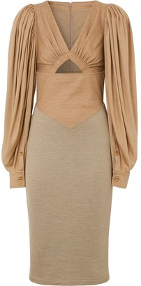 Burberry Panelled Fitted Dress