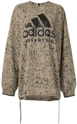 adidas x HYKE marbled print sweatshirt