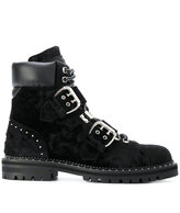 Jimmy Choo Breeze buckle and stud detail boots