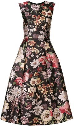 Adam Lippes floral A-line dress