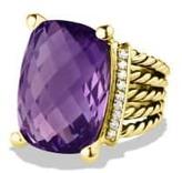 David Yurman Wheaton Ring With Amethyst And Diamonds In 18K Gold
