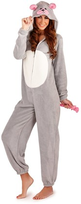 Ld Outlet Womens Hooded Animal Ears Tail Onesies Jumpsuits Pyjamas Ladies Pjs PJ's Girls Xmas Gifts Presents Size UK 6-16