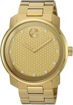Movado Men's Swiss Quartz and Stainless-Steel-Plated Casual Watch, Color:Gold-Toned (Model: 3600374)