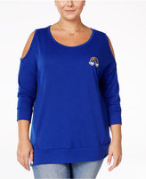 ING Trendy Plus Size Rainbow Patch Top