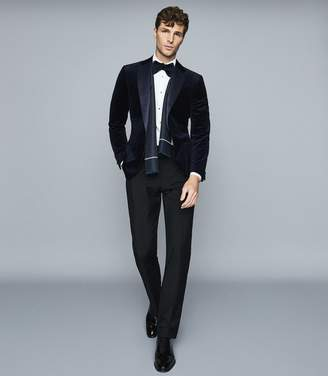Reiss Knightsbridge - Tuxedo Trousers in Black