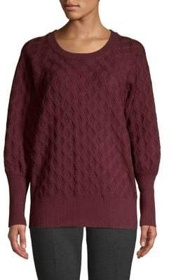 Vince Camuto Waffle-Knit Crewneck Sweater
