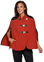 G.I.L.I. got it love it As Is G.I.L.I Buckle Front Cape with Faux Leather Trim