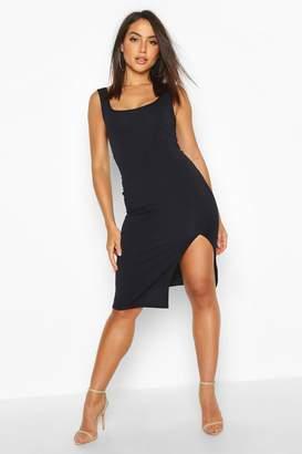 boohoo Square Neck Midi Dress