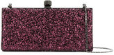 Jimmy Choo 'Celeste' glitter clutch - women - Silk/Viscose - One Size