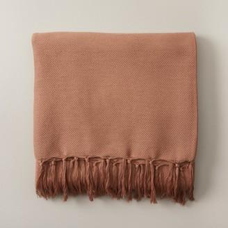 Indigo Lightweight Throw Blanket Cafe Au Lait