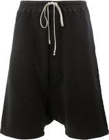 Rick Owens drop-crotch shorts - men - Cotton/Spandex/Elastane - S