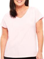 Liz Claiborne Short Sleeve Pajama Top-Plus