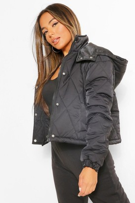 boohoo Petite Hooded Padded Jacket