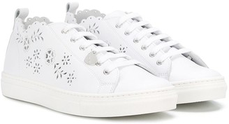 MonnaLisa TEEN laser-cut sneakers