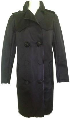 Lanvin For H&m Navy Silk Trench Coat for Women