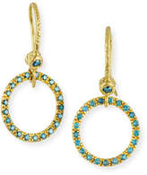 Dominique Cohen 18K Yellow Gold & Blue Diamond Round Drop Earrings