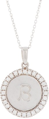Anzie Sterling Silver Love Letter B Script Topaz Pendant Necklace