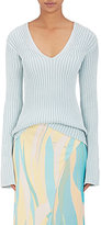 Sies Marjan Women's Flared-Sleeve Cotton V-Neck Sweater