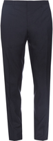 Burberry Straight-leg wool and silk-blend trousers