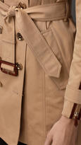 Burberry Mid-Length Zip Detail Gabardine Trench Coat