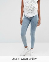 Asos Rivington Jegging In Arlanda Light Wash With Under The Bump Waistband