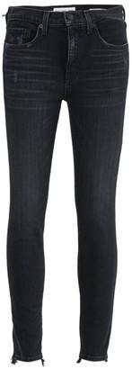 Nili Lotan Black Mid-rise Denim Pants