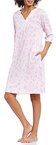 Miss Elaine Lace-Trimmed Floral Nightgown