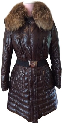 Moncler Fur Hood Brown Fur Coat for Women