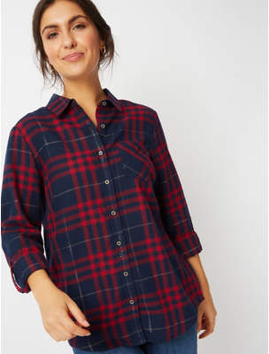 George Red Shimmer Check Shirt
