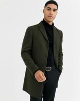 Rudie premium wool blend overcoat-Green