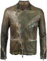 Giorgio Brato leather jacket - men - Cotton/Leather/Nylon - 48