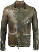 Giorgio Brato leather jacket - men - Cotton/Leather/Nylon - 52