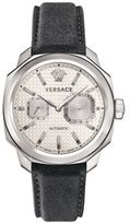Versace Dylos Automatic Limited Edition Stainless Steel & Leather Strap Watch