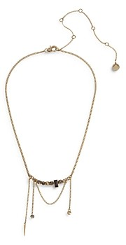 AllSaints Stone Swag Chain Necklace, 16